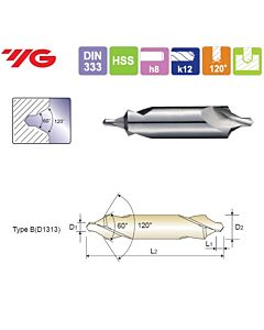 2.5X10X3.3X55mm, HSS(M2) CENTER DRILL FORM B, , Urbji